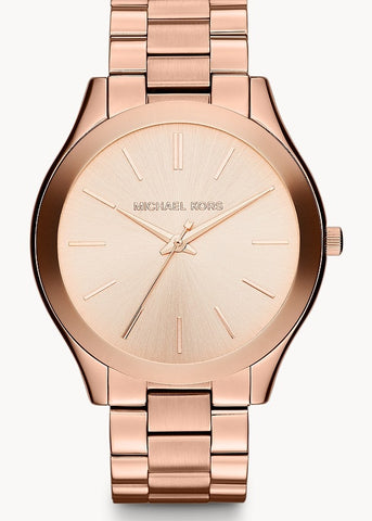MICHAEL KORS WATCH RUNAWAY ROSE GOLD BRACELET MK3197