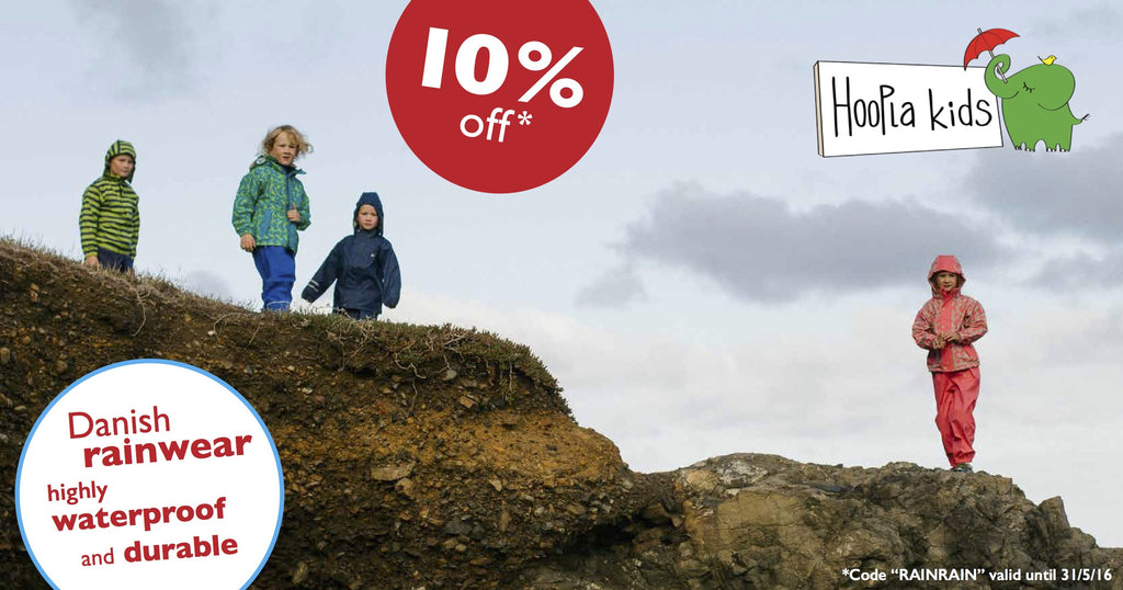 Is it winter where you are? Get 10% off Rainwear