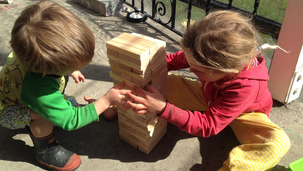 DIY Outdoor Tumbling Blocks