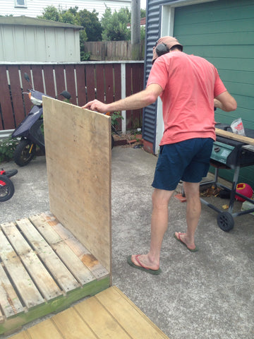 Pallet shed assembly