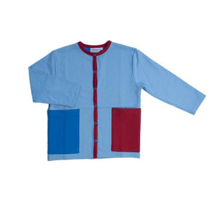 Moromini Blue and Red Cardigan - Hoopla Kids
