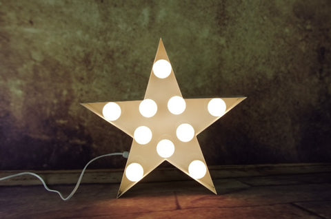 Vintage Marquee Light - Star 15""