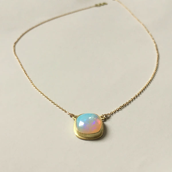 2 ct One-Of-A-Kind Opal Necklace