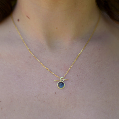 London blue topaz convertible toggle necklace