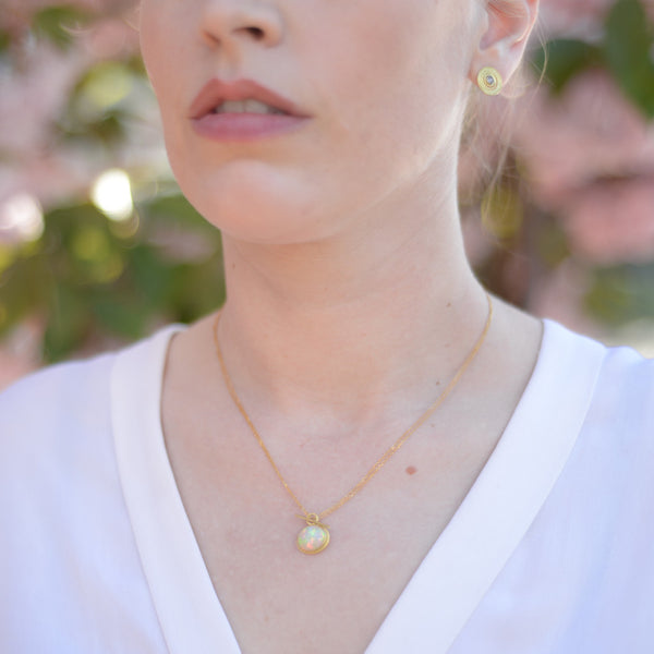 3.5 carat opal convertible toggle necklace
