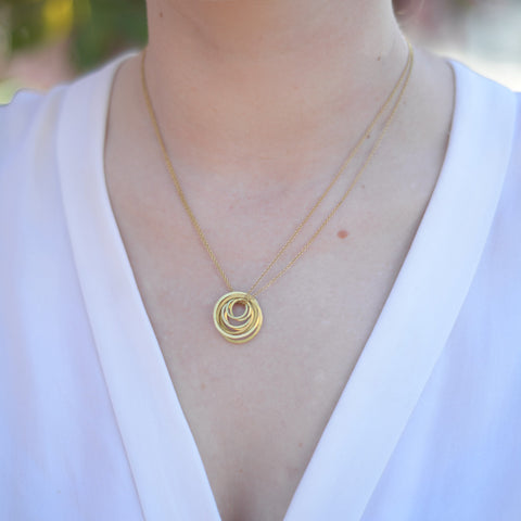 Ring drop necklace