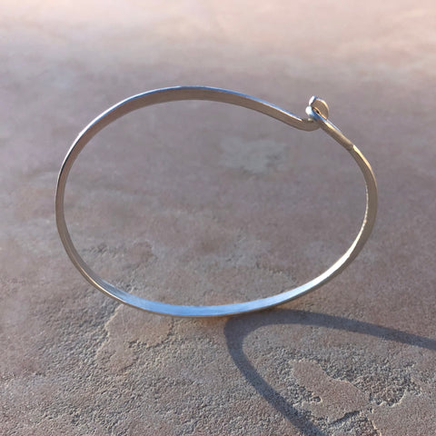 Pre-order Special: Sterling Silver Hammered Hook & Eye Bracelet