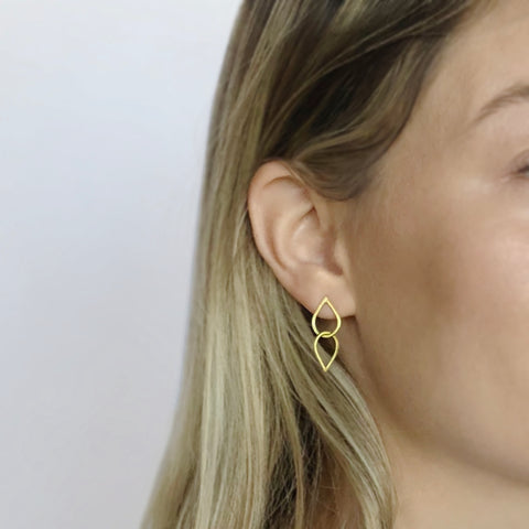 Double droplet earrings