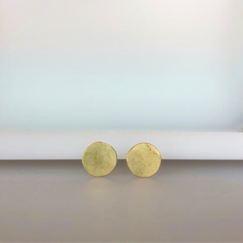 Disc stud earrings, single or pair
