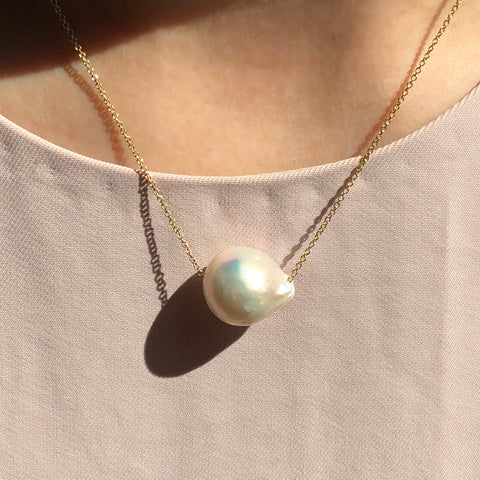 17mm Baroque Single Pearl Necklace