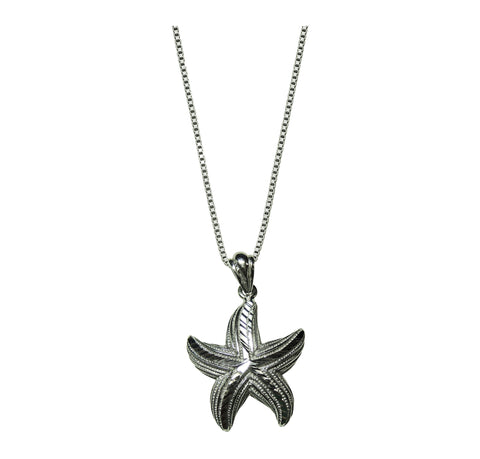 Guardian Star Fish Pendant with Sterling Box Chain