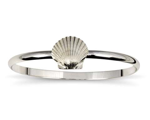 Sterling Silver Scallop Shell Bracelet - Made in Rhode Island