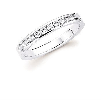 1/4 Ctw. Channel Set 10 Stone Diamond Anniversary Band In 14K Gold