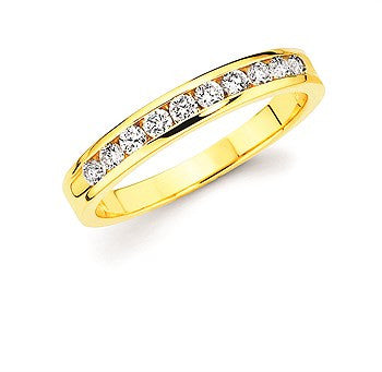 1/3 Ctw. Channel Set 10 Stone Diamond Anniversary Band In 14K Gold