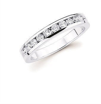 1/2 Ctw. Channel Set 10 Stone Diamond Anniversary Band In 14K Gold