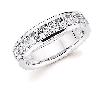 1 1/2 Ctw. Channel Set 10 Stone Diamond Anniversary Band In 14K Gold