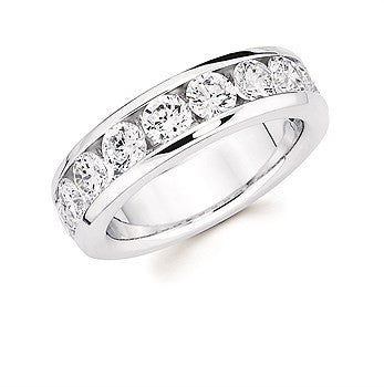 2 Ctw. Channel Set 10 Stone Diamond Anniversary Band In 14K Gold