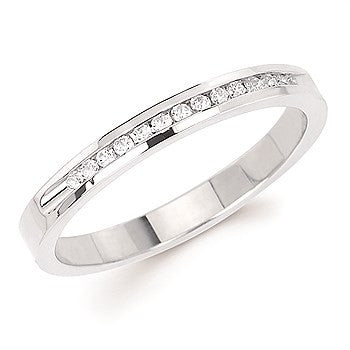 1/10 Ctw. Channel Set 14 Stone Diamond Anniversary Band In 14K Gold