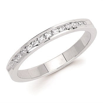 1/5 Ctw. Channel Set 14 Stone Diamond Anniversary Band In 14K Gold