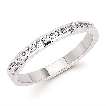 1/4 Ctw. Channel Set 14 Stone Diamond Anniversary Band In 14K Gold