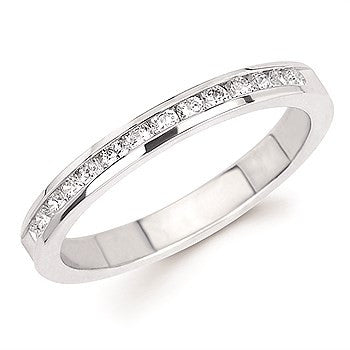 1/3 Ctw. Channel Set 14 Stone Diamond Anniversary Band In 14K Gold