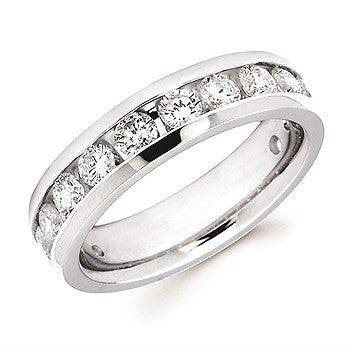 1 1/2 Ctw. Channel Set 14 Stone Diamond Anniversary Band In 14K Gold