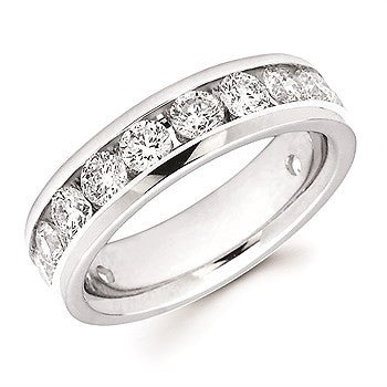 2 Ctw. Channel Set 14 Stone Diamond Anniversary Band In 14K Gold