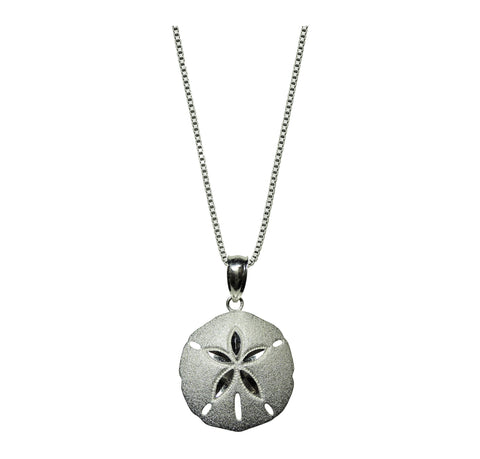 Guardian Sand-dollar Pendant with Sterling Box Chain