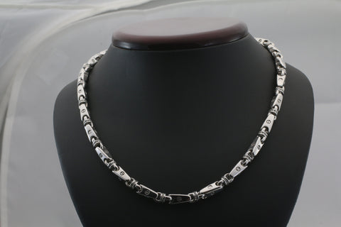 "24"" Endless 14k White Gold and Diamond Necklace"