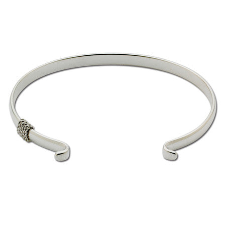Narrow Cape Cod Convertible Sterling Silver Bracelet with Rope Detail
