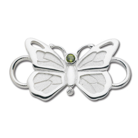 Cape Cod Convertible Charm - Butterfly with Peridot