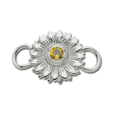 Cape Cod Convertible Charm - Sunflower with Yellow CZ