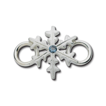Cape Cod Convertible Charm - Snowflake with Blue Zircon