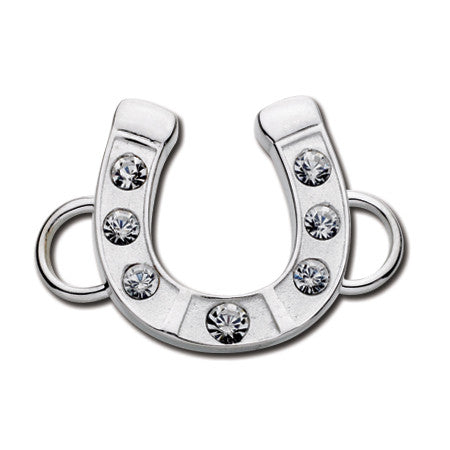 Cape Cod Convertible Charm - Horseshoe with Crystals