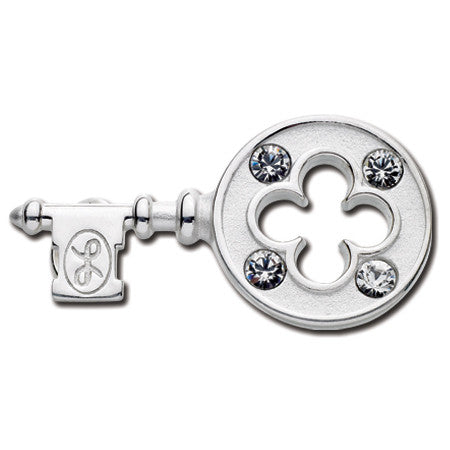Cape Cod Convertible Charm - Clover Key with Crystals