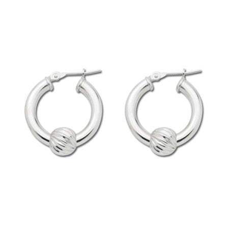 LeStage Cape Cod Jewelry - Single Swirl Ball Small Earrings - Sterling Silver