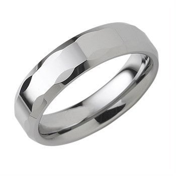 6.00mm Tungsten Band With Textured Edge