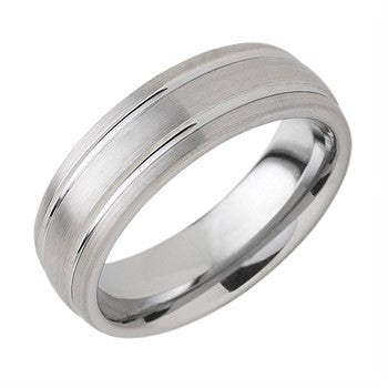 7.00mm Tungsten Band With Double Channel Accent