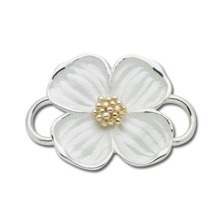 Cape Cod Convertible Charm - Dogwood Flower with 14ky Accent