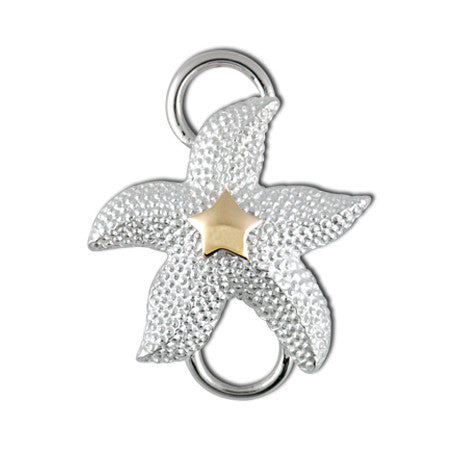 Cape Cod Convertible Charm - Starfish with 14ky Accent