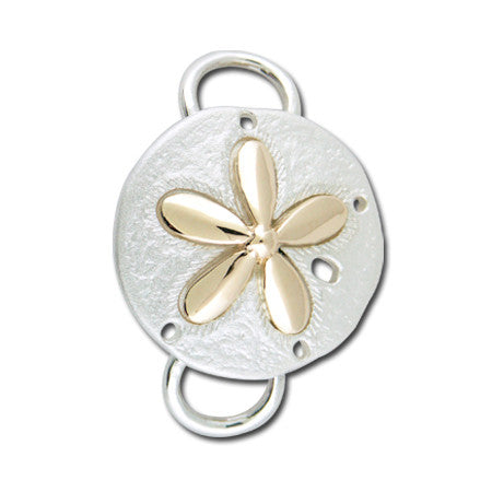 Cape Cod Convertible Charm - Sand Dollar with 14ky Accent