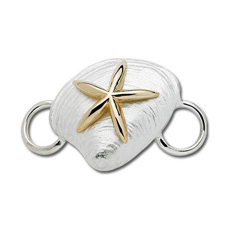 Cape Cod Convertible Charm - Clam with 14ky Starfish