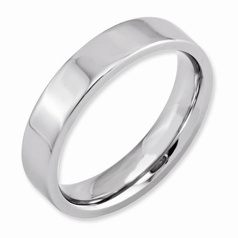 5.00mm Cobalt Flat Polished Band
