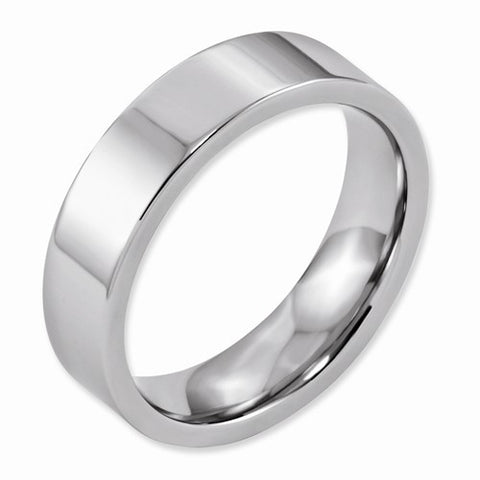 6.00mm Cobalt Flat Polished Band