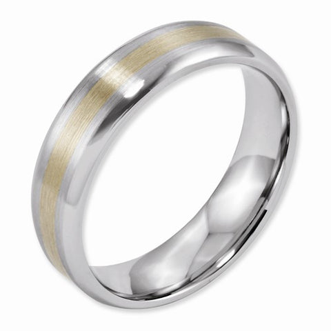 8.00mm Cobalt 14k Gold Inlay Satin Band