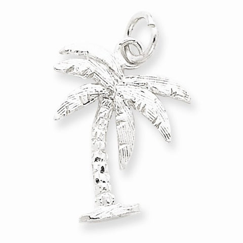 Palm Tree Pendant - Sterling Silver