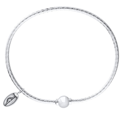 LeStage Cape Cod Sterling Silver Bracelet [Single Ball Textured Bracelet]