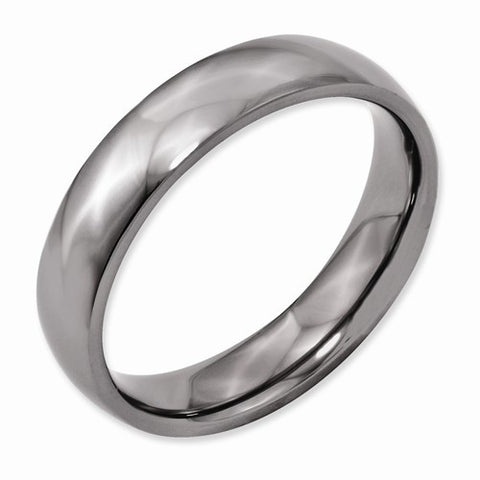 5.00mm Titanium Polished Band