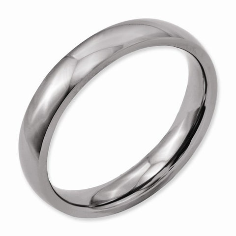 4.00mm Titanium Polished Band