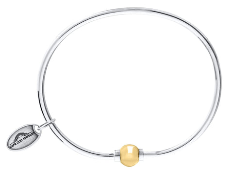 LeStage Cape Cod Sterling Silver Bracelet with 14ky Accent [Single Ball]